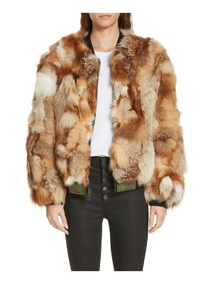 Alice + Olivia becky reversible genuine fox fur bomber jacket