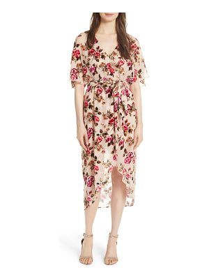 Alice + Olivia clarine floral faux wrap dress