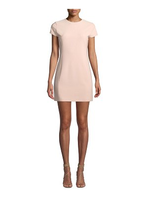 Alice + Olivia Colin Crewneck Fitted Dress