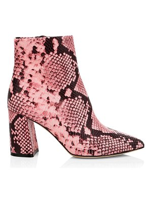 Alice + Olivia delanie snakeskin print leather ankle boots