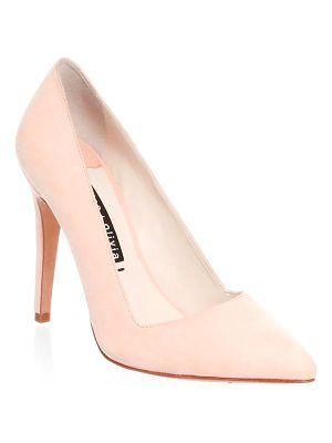 Alice + Olivia dina suede point toe pumps