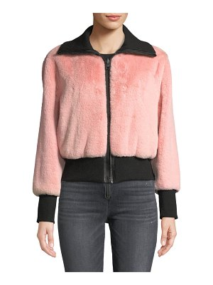 Alice + Olivia Genova Reversible Faux-Fur Bomber Jacket