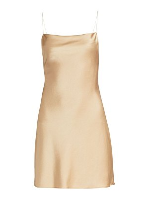 Alice + Olivia harmony draped slip mini dress