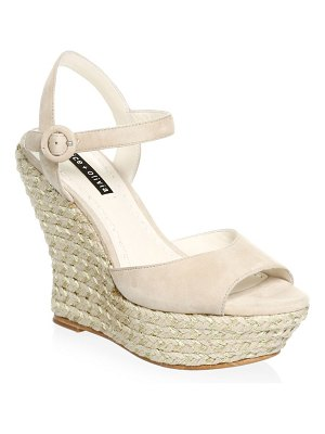 Alice + Olivia jana leather platform wedges
