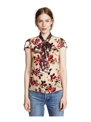 Alice + Olivia jeannie bow collar blouse