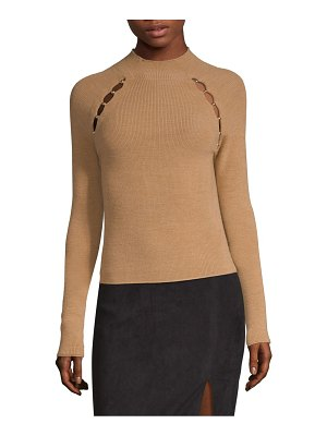 Alice + Olivia jennifer wool mockneck top