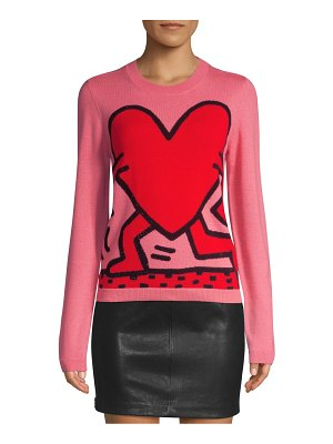 Alice + Olivia keith haring x  connie intarsia knit