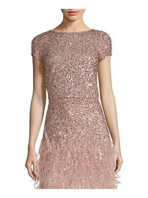 Alice + Olivia kelli sequined crop top