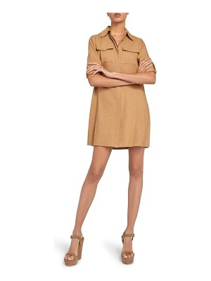 Alice + Olivia kiera silk mini shirtdress