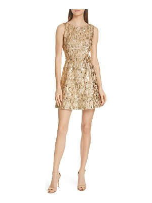 Alice + Olivia lindsey embellished fit & flare dress