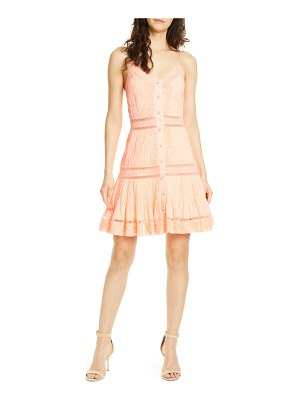 Alice + Olivia marci embroidery & pintuck button front sundress