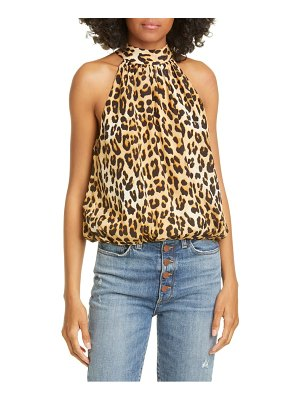Alice + Olivia maris silk halter neck top