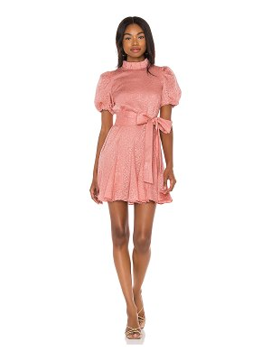 Alice + Olivia mina pleated sleeve dress