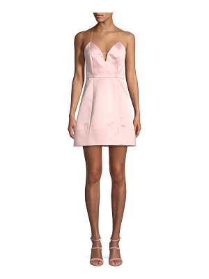 Alice + Olivia Pearl Deep V Sleeveless Lantern Cocktail Dress