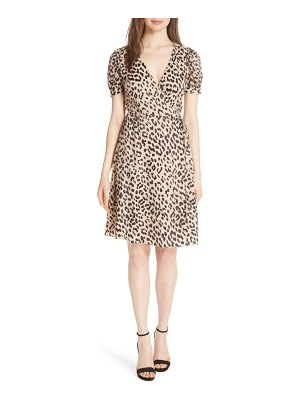 Alice + Olivia puff sleeve wrap dress