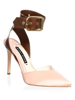 Alice + Olivia rachelle leather point toe pumps