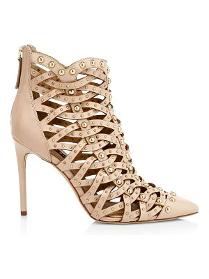 Alice + Olivia reiy studded leather cage booties