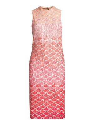 Alice + Olivia rosalee embellished sequin sheath dress