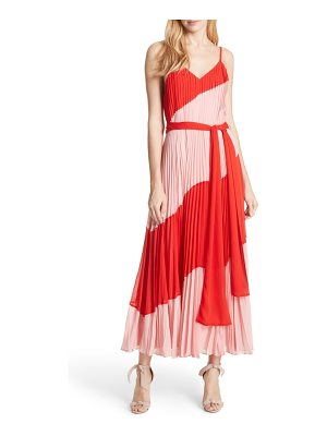 ALICE + OLIVIA Rozlyn Pleat Colorblock Maxi Dress
