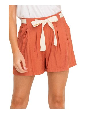 ALL IN FAVOR front tie pleated shorts