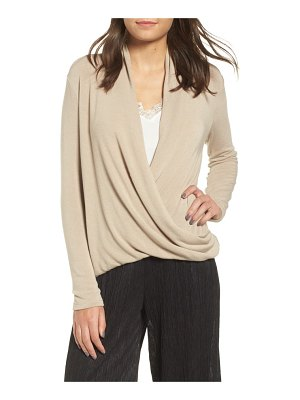 ALL IN FAVOR knit surplice top