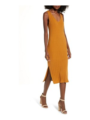 ALL IN FAVOR ribbed midi dress