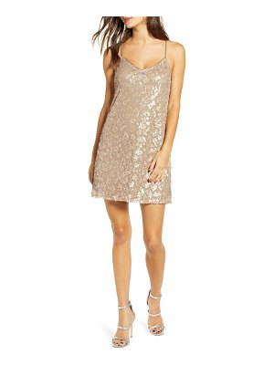 ALL IN FAVOR sequin shift dress