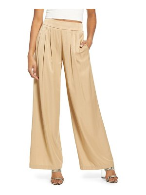 ALL IN FAVOR wide leg satin pants