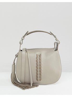 ALLSAINTS Contrast Leather Detail Shoulder Bag