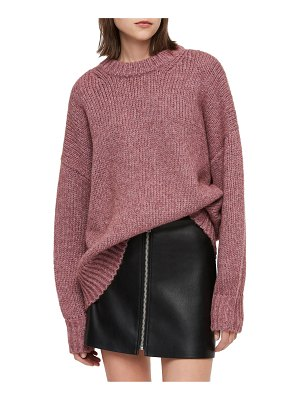 Allsaints gemini metallic knit sweater