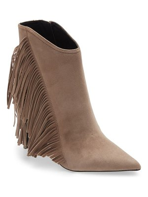 Allsaints izzy fringe pointed toe bootie