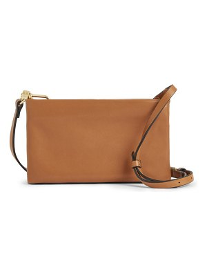 Allsaints mila double pouch leather crossbody bag in desert at nordstrom