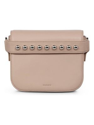 Allsaints suzi studded leather clutch