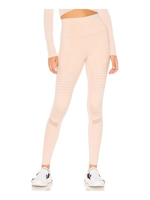 Alo Yoga High Waist Moto Legging in Nectar