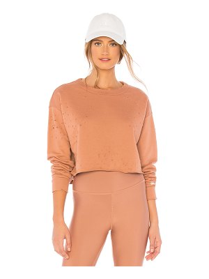 Alo Yoga The Crew Distressed Pullover