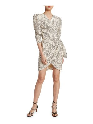 Altuzarra Animal-Print Wrapped Mini Dress