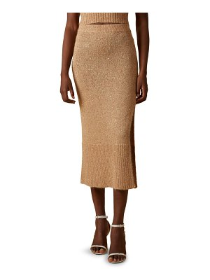 Altuzarra billie sequin knit slit skirt