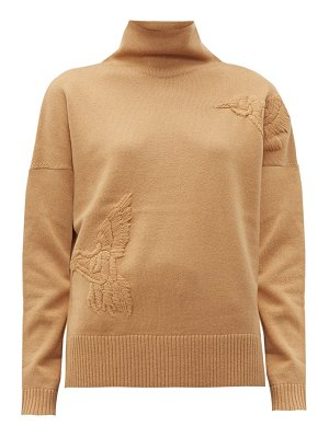 Altuzarra bromley bird embroidered wool blend sweater