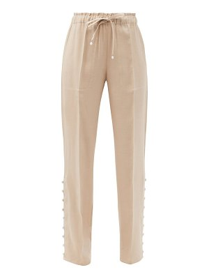 Altuzarra catkin buttoned linen-blend straight-leg trousers