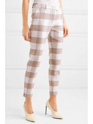 Altuzarra cropped gingham wool-blend twill skinny pants