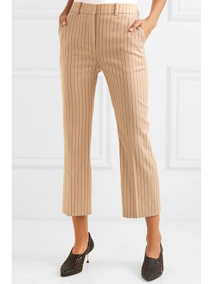 Altuzarra cropped pinstriped wool-blend flared pants