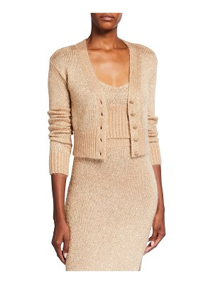 Altuzarra Embellished Cardigan Cropped Sweater