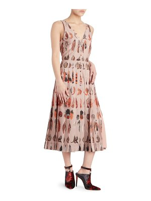 Altuzarra eos printed a-line dress