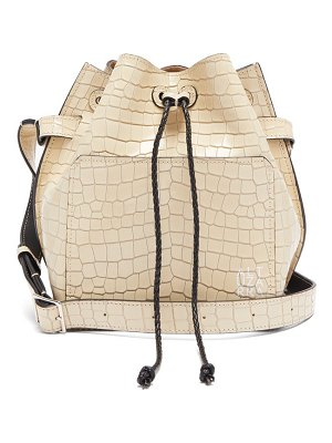 Altuzarra espadrille crocodille effect leather bucket bag