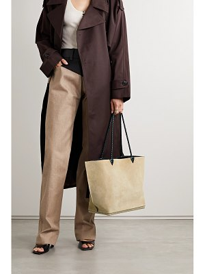 Altuzarra espadrille large leather and jute-trimmed suede tote