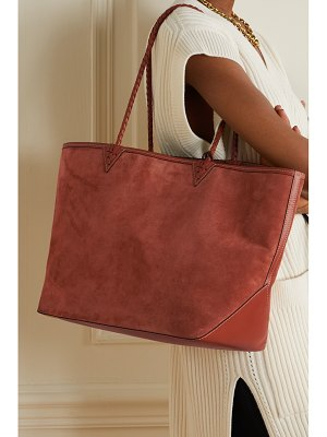 Altuzarra espadrille large reversible leather-trimmed suede tote