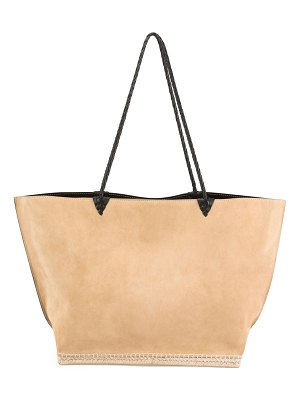 Altuzarra Espadrille Large Suede Shoulder Tote Bag