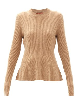 Altuzarra frankie flared ribbed cashmere sweater