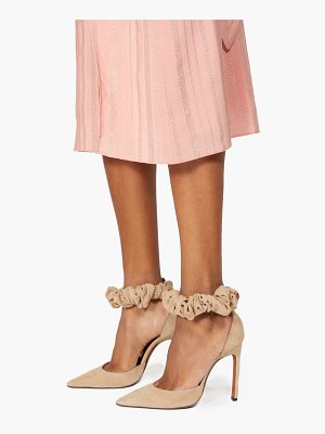 Altuzarra george scrunchie strap suede pumps