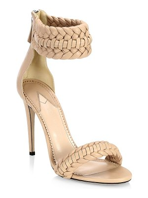 Altuzarra ghianda braided leather stiletto sandals